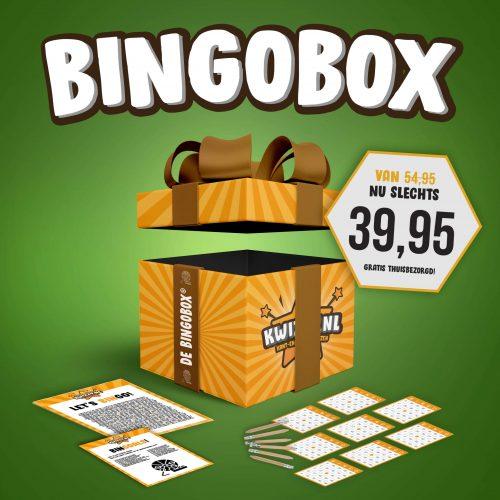 Een op maat gemaakt Bingo spel spelen? Bestel de Bingobox van Kwizzy.nl!
